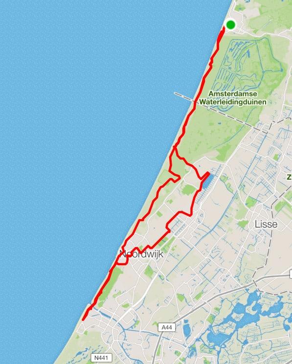 fietsroute zandvoort noordwijk katwijk